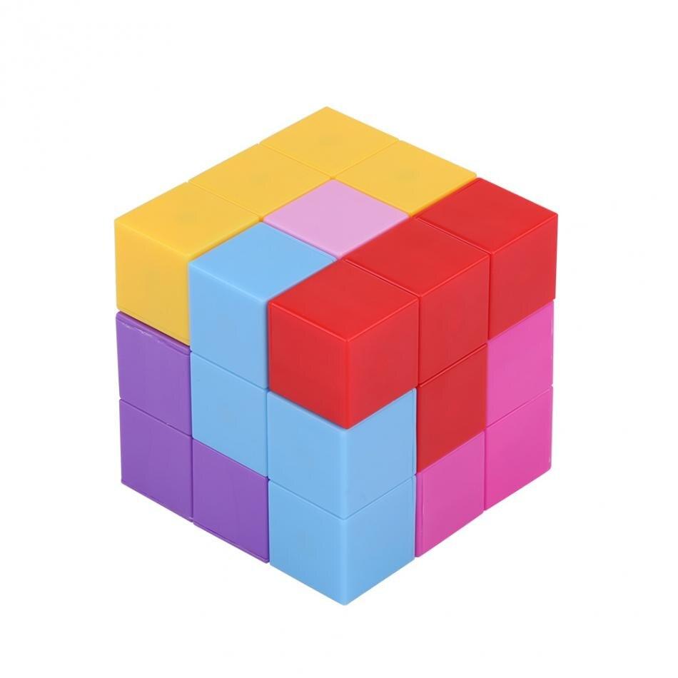 Cubo magnético infinito 3D rompecabezas cubo Twist alivio del estrés con 54 cartas de guía niños divertido montado juego juguete de regalo para niños