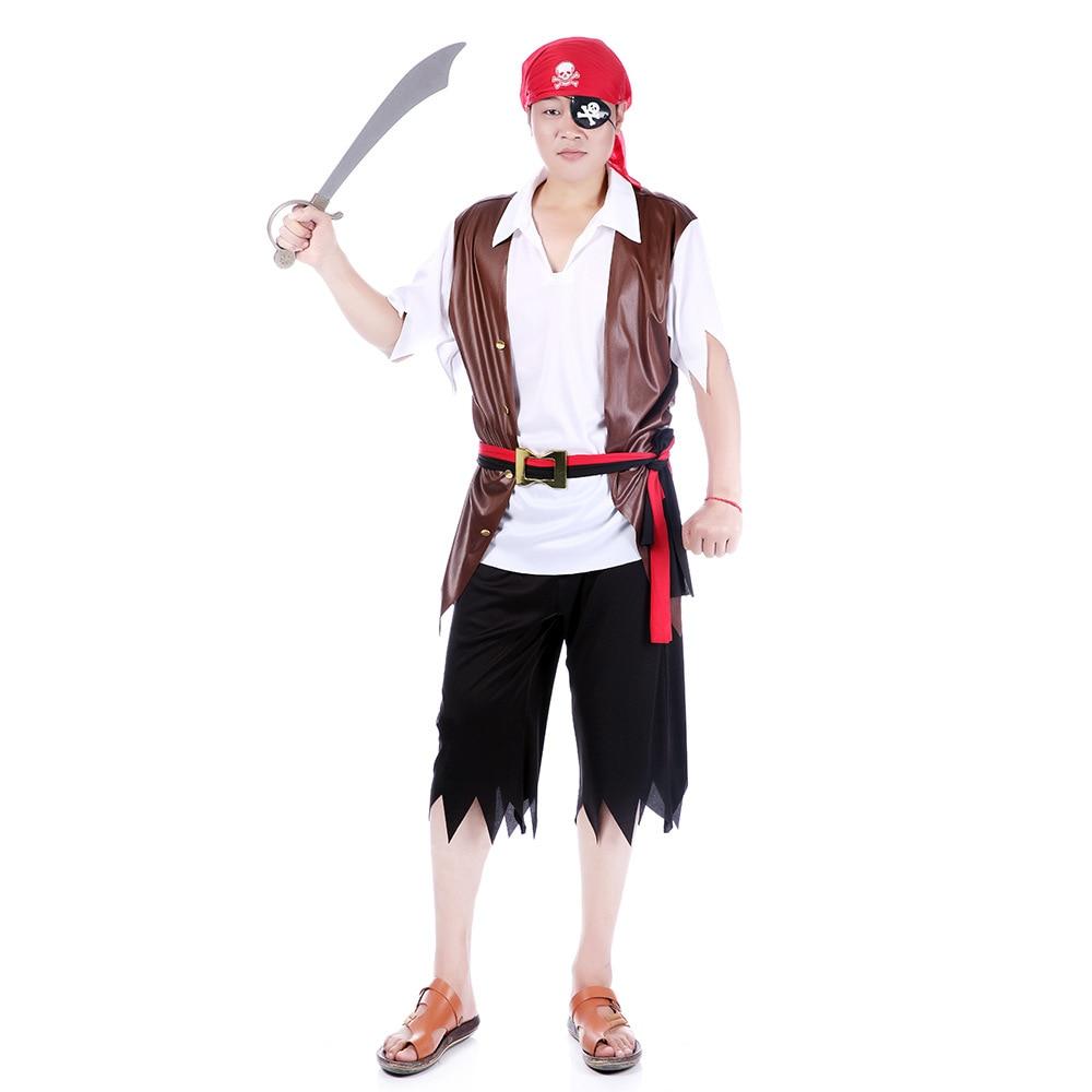 Halloween palco desempenho roupas traje bola adulto homem preto shorts pirata terno festa cultura vocaloid cosplay