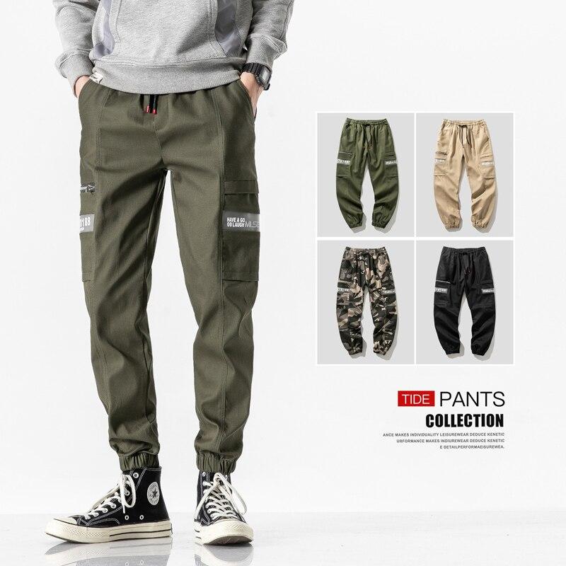Streetwear Cargo Pants Men Joggers Camouflage Brand Casual Pants Sweatpants Pockets Male Trousers Men's Fashion 2020 Harajuku