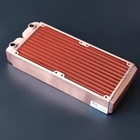 ke ruiwo 240mm full red copper radiator 45mm thickness water cooling radiator suitable for 120mm fans