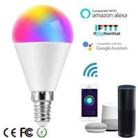 Ampoule intelligente LED 12W E14 RGB   blanc froid  lampe intelligente coloree  Tuya  variable  commande vocale  fonctionne avec Alexa Google Home