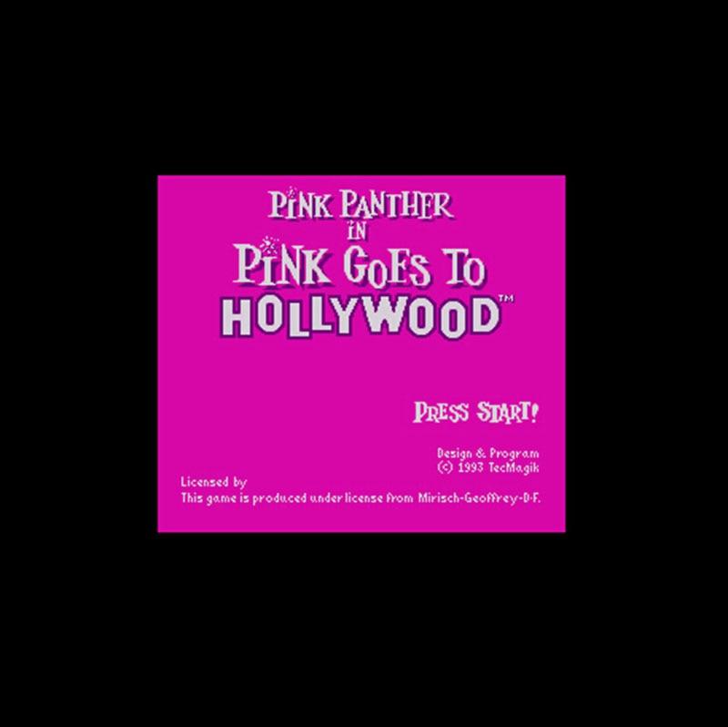 Pink Panther en rosa va a Hollywood, versión de ee.uu., 16 bits, gran tarjeta de juego gris para el jugador de juego NTSC