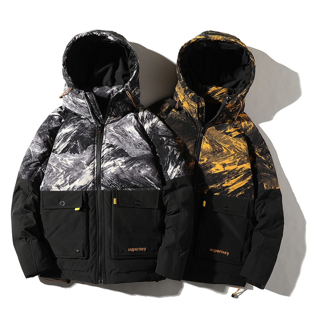 Фото - Covrlge Men Hooded 90 Fleece Jacket  Man Duck Down Jacket Light Thick Jackets Men Stand-up Collar Coat Men US Size White MWY032 covrlge trendy hooded men s white duck down jacket stand collar embroidered down jacket men winter warm causal coat us mwy034