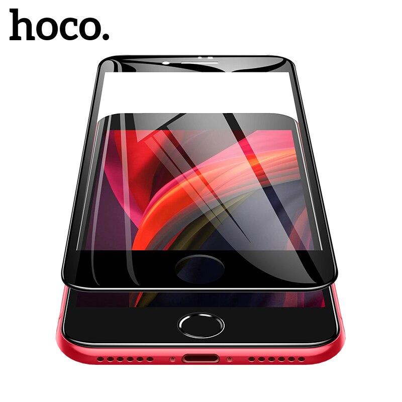 HOCO HD закаленное стекло для iphone se 2020 стеклянная пленка 3D сенсорный экран Защитная крышка для экрана