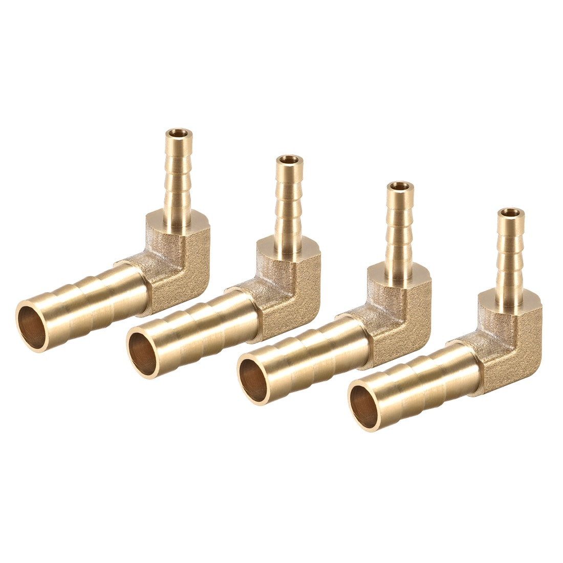 Adaptador de tubulação do acoplador do conector da tubulação do cotovelo de 90 graus para o ar, água, combustível uxcell 4 pces 8mm a 4mm