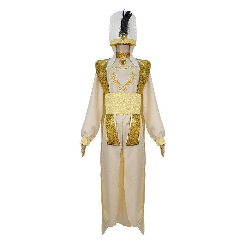 Aladdin e a lâmpada mágica trajes cosplay festa de halloween animação adulto rpg trajes conjunto completo
