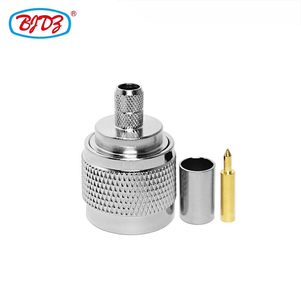 شحن مجاني 10 قطعة N ذكر مستقيم تجعيد RF موصل ل RP240/4DFB/H155/RG59 كابل