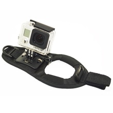 QQT Rotation poignet gant main paume sangle ceinture trépied support de support pour GoPro Hero 7 6 5 4 3 + / 3/2 SJCAM Xiaomi Yi