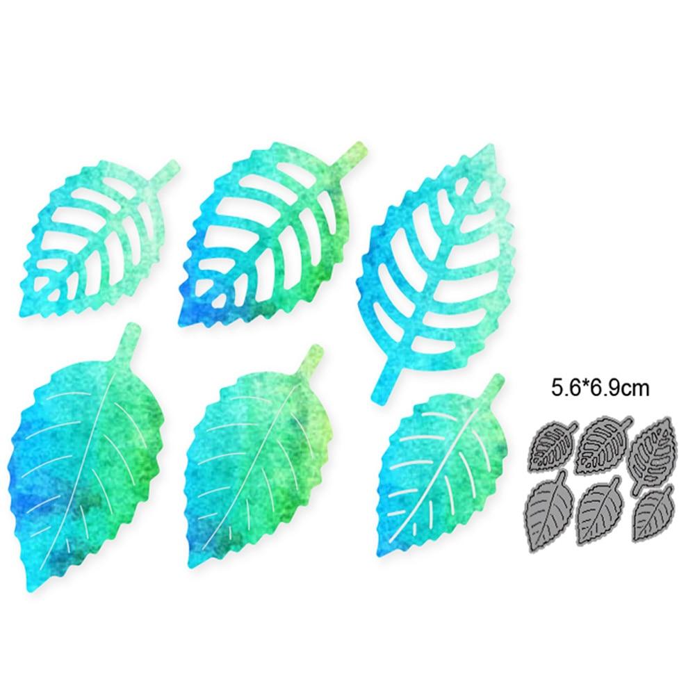 Пресс-формы 6 шт., металлические штампы с листьями, форма для высечки, для скрапбукинга, бумаги, ремесла, лезвие, перфоратор, трафареты, штампы...