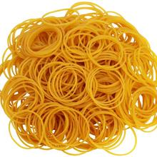 600 Pcs Per Bag Rubber Bands Rubber Ring Band Loop in Yellow Sturdy Stretchable  Band Loop School Of