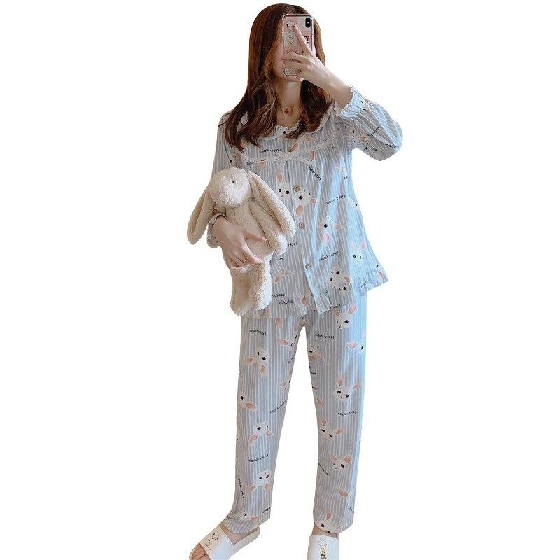 Cotton Spring and Autumn Confinement Clothing wei nai yi Postpartum Nursing Homewear Set Pregnant Women Pajamas enlarge