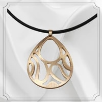 new fashion original modern drop shape gold color metal necklace for women personality popularity unique jewelry party kpop