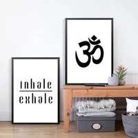inhale exhale breathe poster yoga quotes canvas painting yoga meditation typography print modular pictures wall art home decor