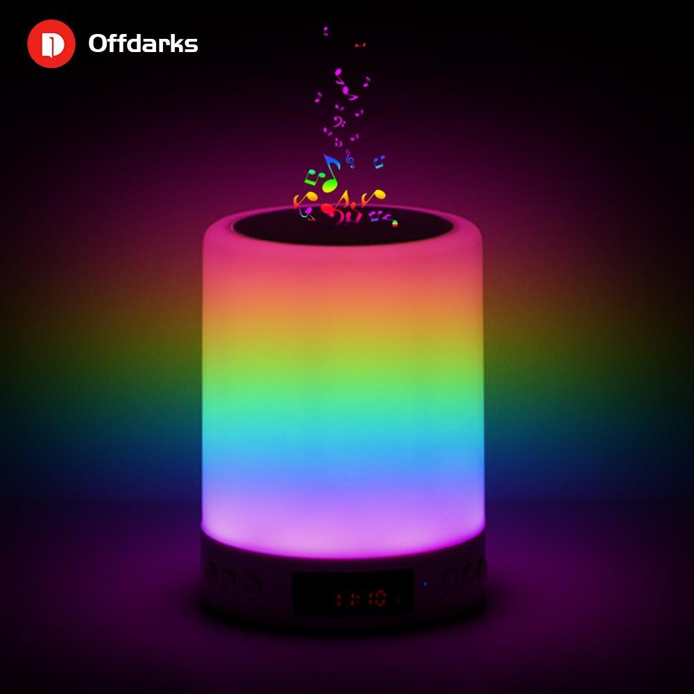Offdarks inteligente bluetooth alto-falante led night light toque controle de carregamento usb portátil criança quarto rgb pode ser escurecido lâmpada cabeceira