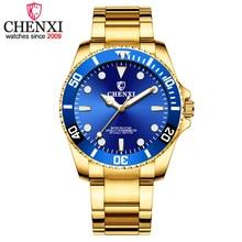 CHENXI hommes montre dorée Top marque de luxe en acier inoxydable bracelet Quartz montres hommes sport horloge montres relogio masculino