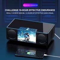 Video Bluetooth Speaker Desk Remote Controller Wireless Portable HIFI Room Clock LED Display Microphone FM Car Indoor Subwoofer