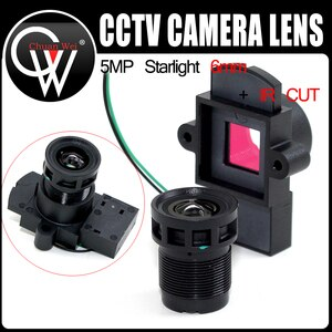 "10PCS StarLights 5MP 6mm 1/2.7"" Lens +M12 IR Cut for image sensor IMX327 , IMX307 , IMX290 , IMX291 camera PCB module camera"