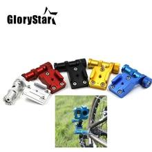 GloryStar CNC Aluminium Fahrrad Stand Halterung Basis Halter Adapter für Gopro hero 876543S OSMO Xiaomi Yi sj5000 Sport kamera