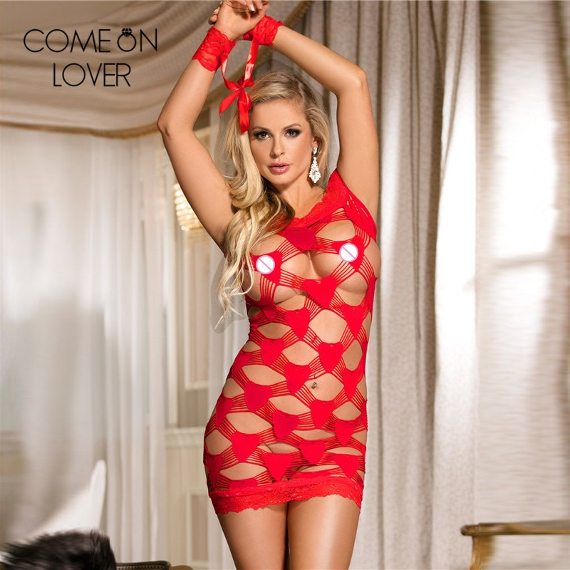 HOTComeonlover Hollow out slash neck exotic lingerie red color big size dessous sexy hot erotic RL70171 sexy babydoll handcuffs
