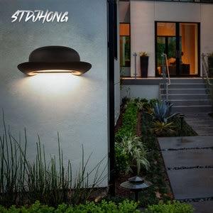 New Design Hat Led Wall Lamp Creative Porch Corridor Living Room Bedroom Lamp Waterproof Outdoor Wall Lamp Bathroom Decor 3000K
