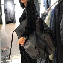 Original sac en cuir fourre-tout 100% naturel véritable peau de vache sacs à main Vintage Simple conception solide sacs à bandoulière Cool grand fourre-tout pour les femmes