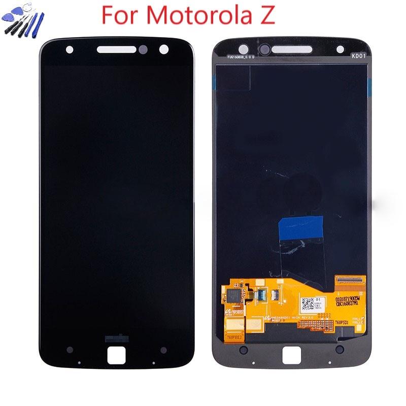 AMOLED для Motorola MOTO Z Droid XT1650-01 XT1650-03 ЖК-дисплей сенсорный экран дигитайзер для Moto Z Force XT1650 LCD