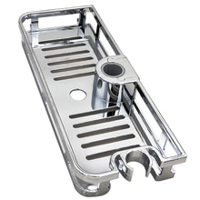 Kitchen Bathroom Shower Shelf Rectangle Detachable Lifting Storage Tray Rack Plastic Holder Bathroom Accessories