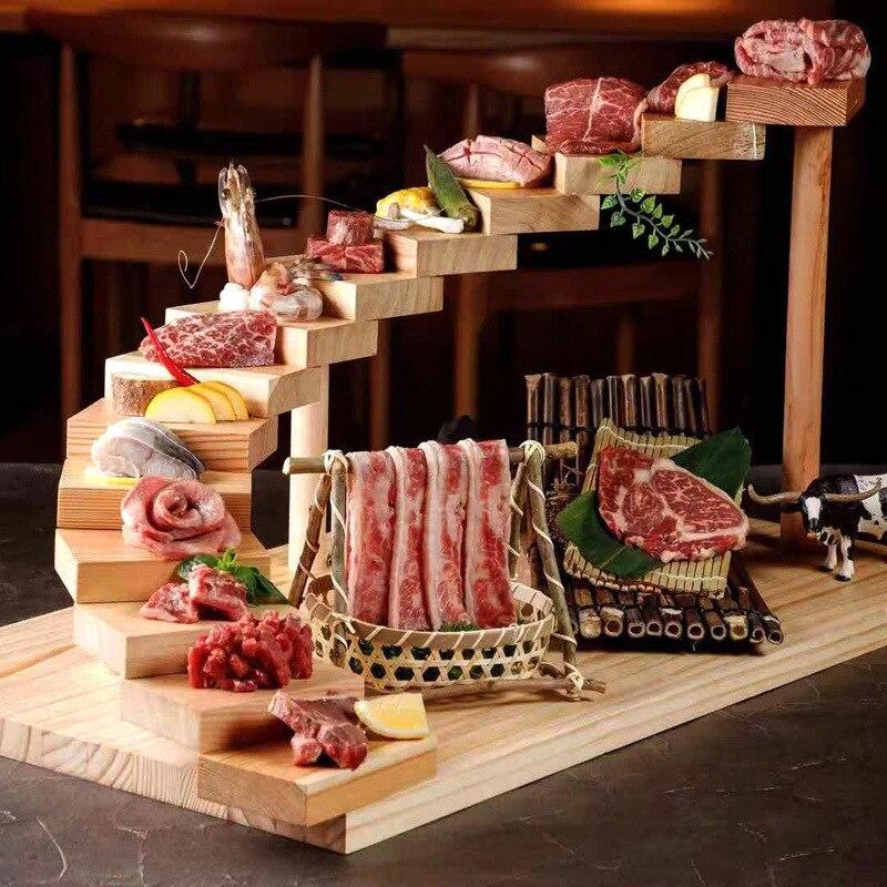 سلم اليابانية الشواء مطعم أدوات المائدة شخصية إناء/ قدر مطعم المزاج طبق الإبداعية السوشي طبق خشبي