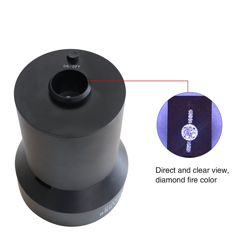 Diamond Fire Observer Brilliance Observation Lamp Jewellery Professional Viewing Appraisal Instrument Diamond Testing Tool