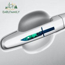 EARLFAMILY 13cm x 10.1cm pour CSGO peau M9 baïonnette Auto décalque vinyle voiture autocollants JDM accessoires étanche 3D Simulation amusant