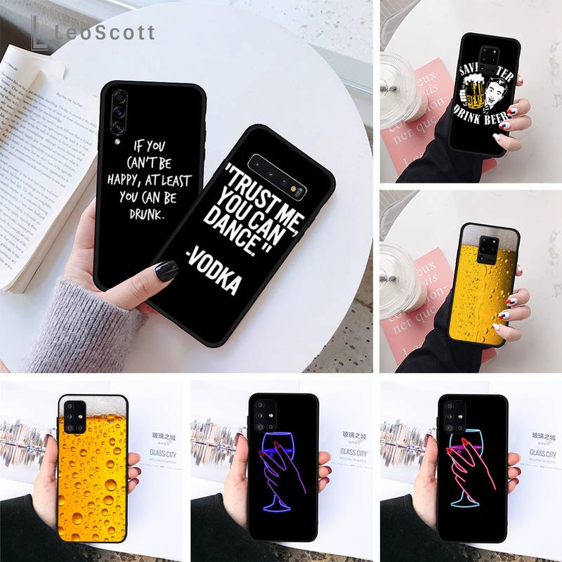 Cerveza Vodka caso de teléfono para Samsung galaxy S 7 8 9 10 20, un 6 10 20 30 50 51 70 Nota 10 plus
