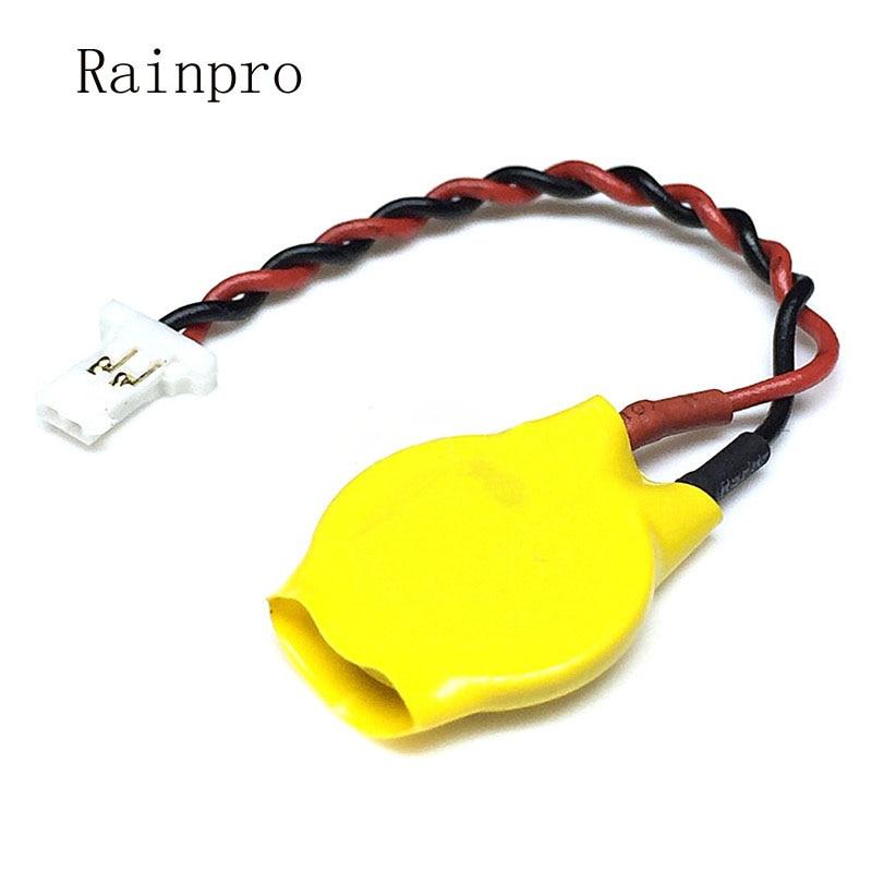1 unids/lote CR1220 batería con cable 3V 1,25 enchufe cable soldadura con botón de cable batería BIOS notebook batería