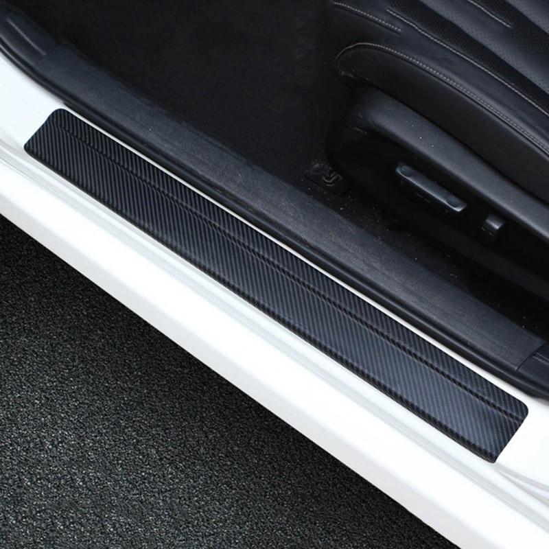 Universal Car Styling Sticker 4pcs Set 3D Carbon Fiber Door Sill Scuff Plate Guards Door Sills Protector Car Accessories
