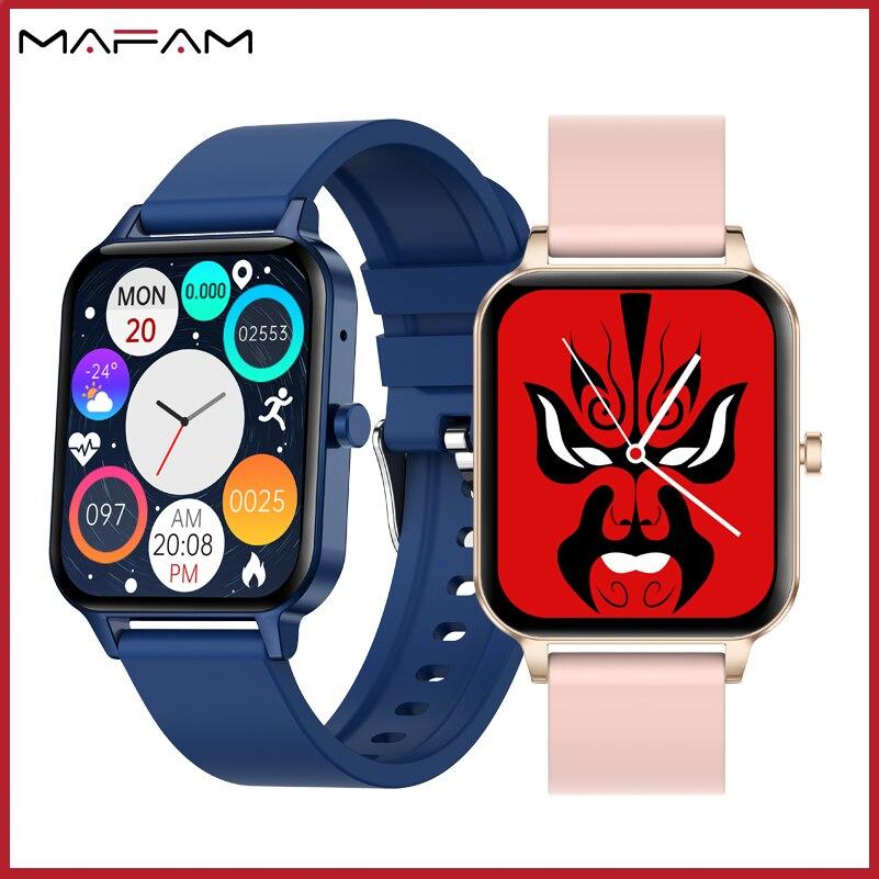 MAFAM MX7 Men Smart Watch Bluetooth Call IP68 Waterproof Watch Women Local Music Thermometer Heart R