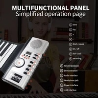 61 key roll piano portable soft keyboard midi piano