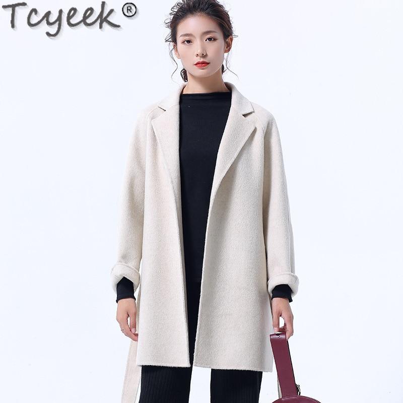 Tcyeek-abrigo de lana de estilo coreano Para Mujer, Abrigos y chaquetas, moda...