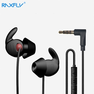 RAXFLY Sleeping Sport Earphone Noise Reduction Wired 3.5mm Earphones Sleep Silicone Earbuds Stereo Headset With Mic In-Ear