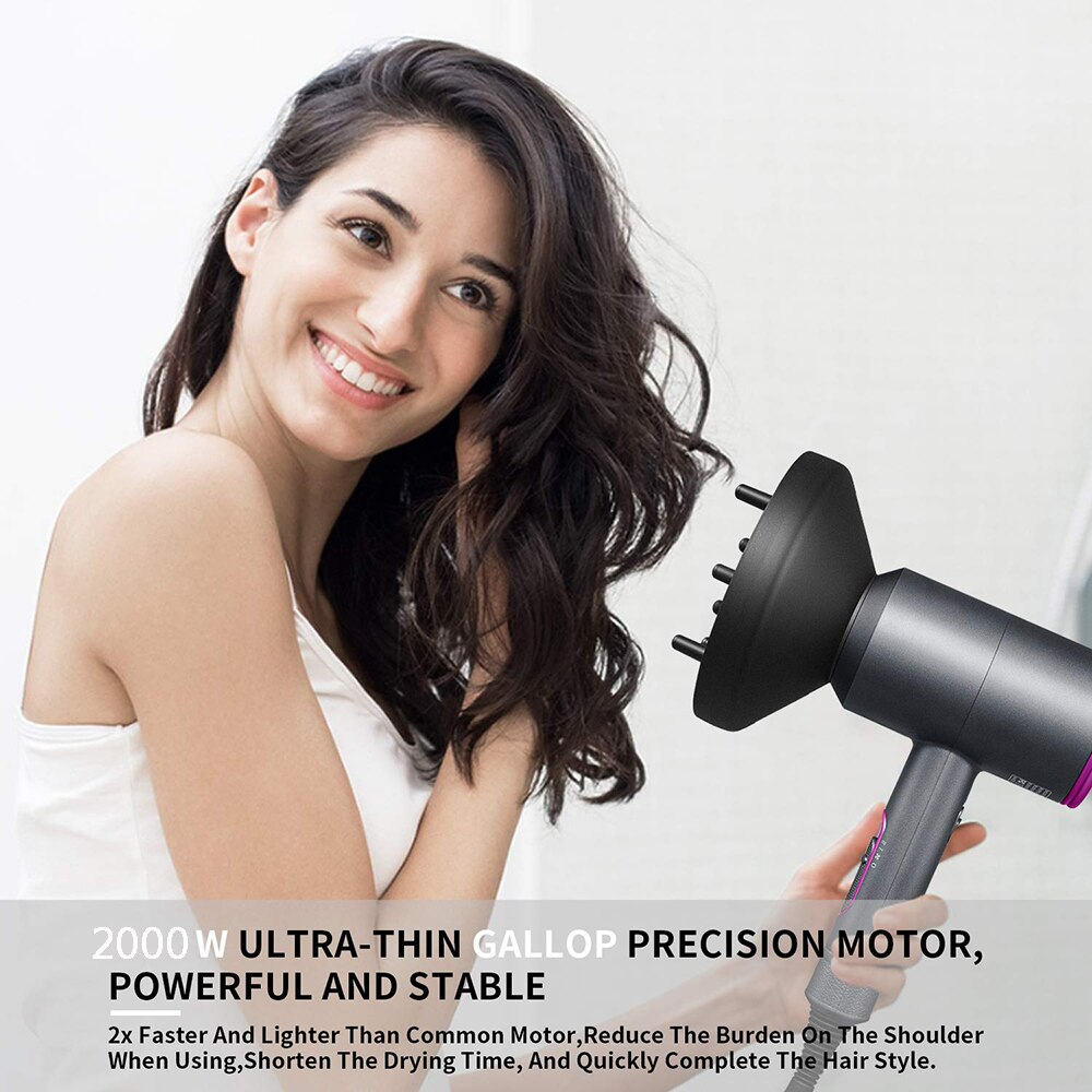 Blow Dryer Hot Cold Wind Air Brush Hairdryer Strong Power Dryer Salon Style Tool enlarge