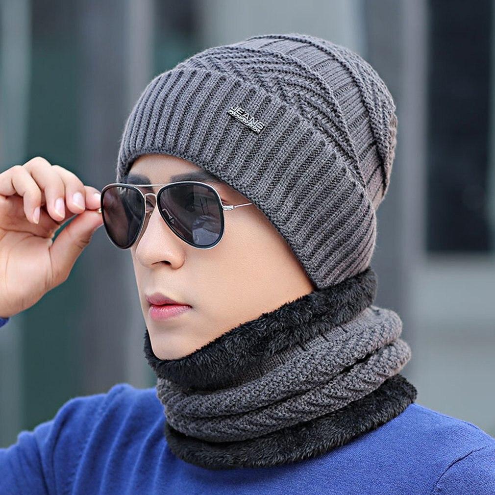 Высококачественная Мужская зимняя утепленная шапка из хлопка, Утепленная зимняя теплая шапка для мужчин, модные вязаные шапки унисекс, шап...