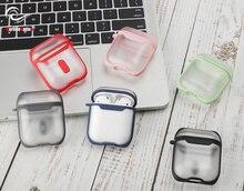 Haute qualité transparent écouteurs étui pour iphone sans fil Bluetooth casque sac utilisé pour protéger Lair Pod couvercle à clip
