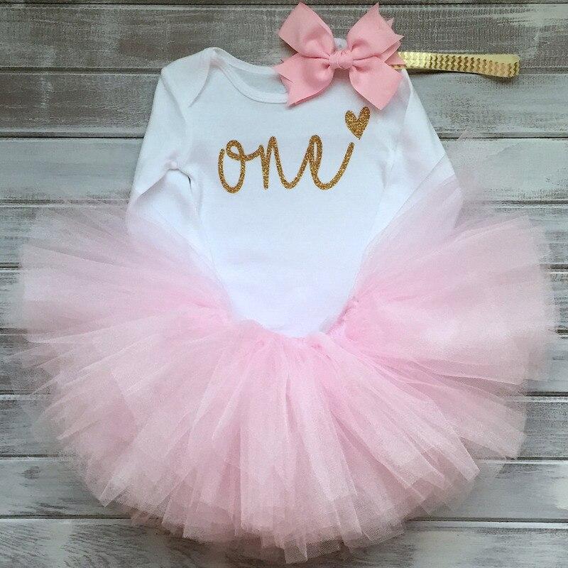 Baby Gir ropa Summers unicornio Tutu vestido princesa Infante 1 año vestido de cumpleaños niños niña ropa Vestidos diadema Vestidos