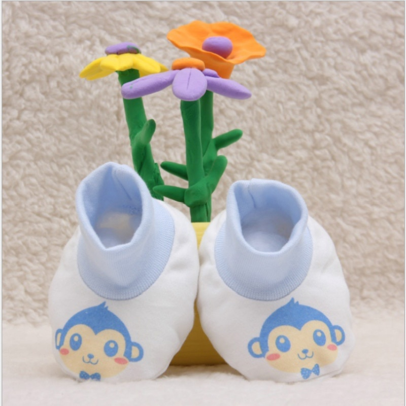 1 pair Newborn Cartoon Soft Cotton Baby Foot Socks Breathable Foot Protection Infant Shoe Socks SA67
