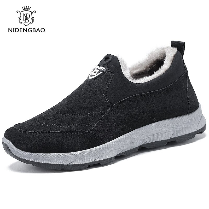 Men Casual Shoes Fashion Hiking Comfortable Outdoor Walking Lace-Up Autumn Winter Rubber Sneakers
