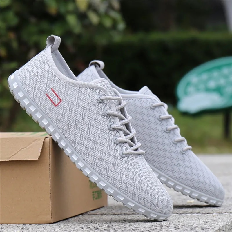 Summer New Pattern Men's Casuft Shoes Extra Large Light And Comfortable Leisure Trendy Sneakers Mesh Surface