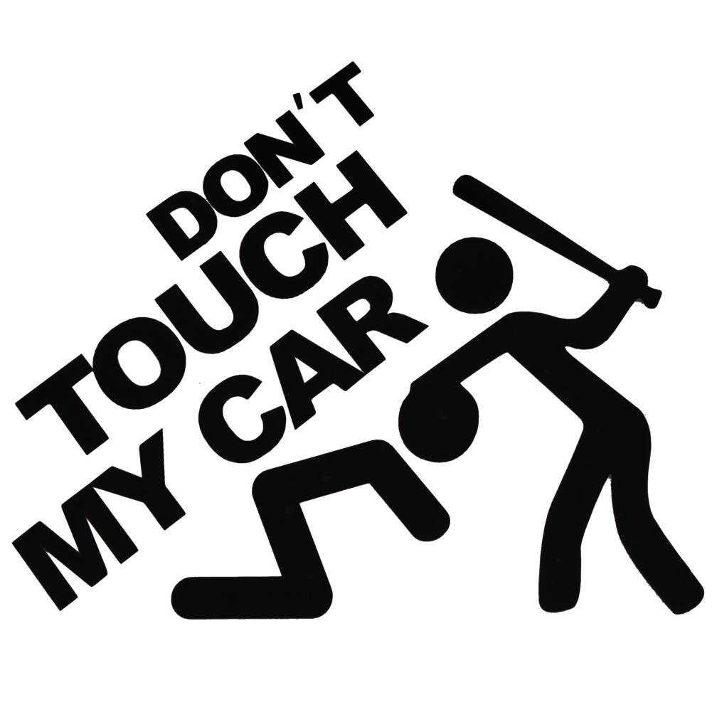 Car Sticker Vinyl Decals Words DONT TOUCH MY CAR  Reflective Window Car Body Trunk Car Sticker Styli