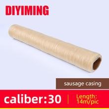 Sausage Packaging Tools 15m*30mm Sausage Casing for Sausage Maker Ham Hot Dog Salame Cooking Tools edible Casings Sausage Shell