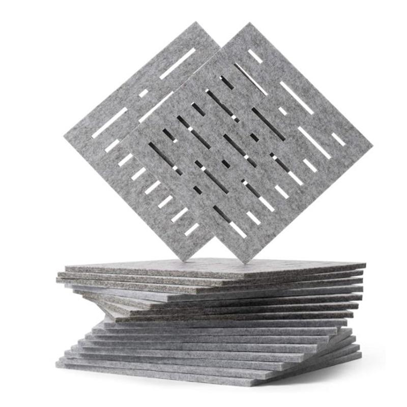 12 قطعة لوحات امتصاص الصوت ، منصات عزل الصوت ، ل صدى و باس العزلة ، ل جدار ديكور و المعالجة الصوتية