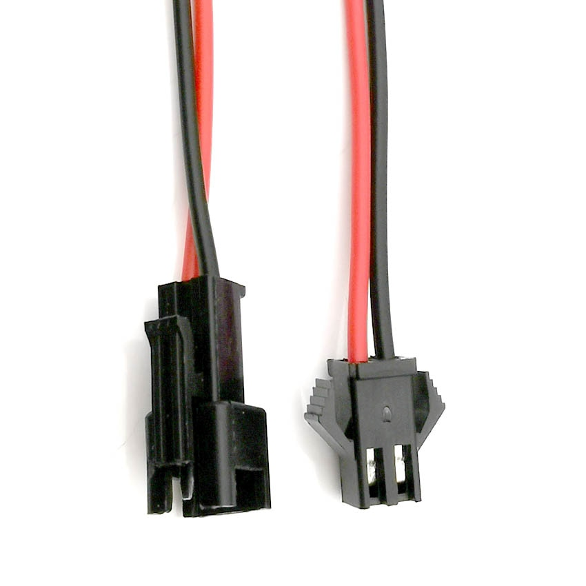 AliExpress - 5Pairs Long JST SM 2P  Plug Male to Female Wire Connector SM2P LED connectors