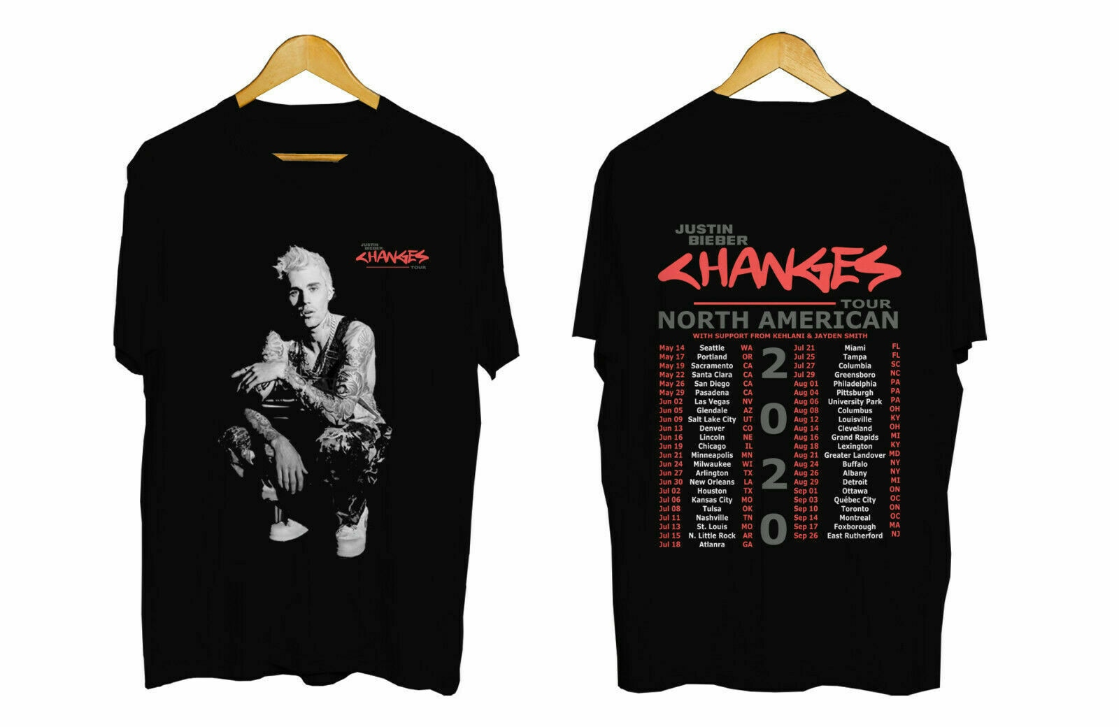Justin Bieber Tour 2020 camiseta Justin Bieber delicioso camiseta Merch las fechas de la gira