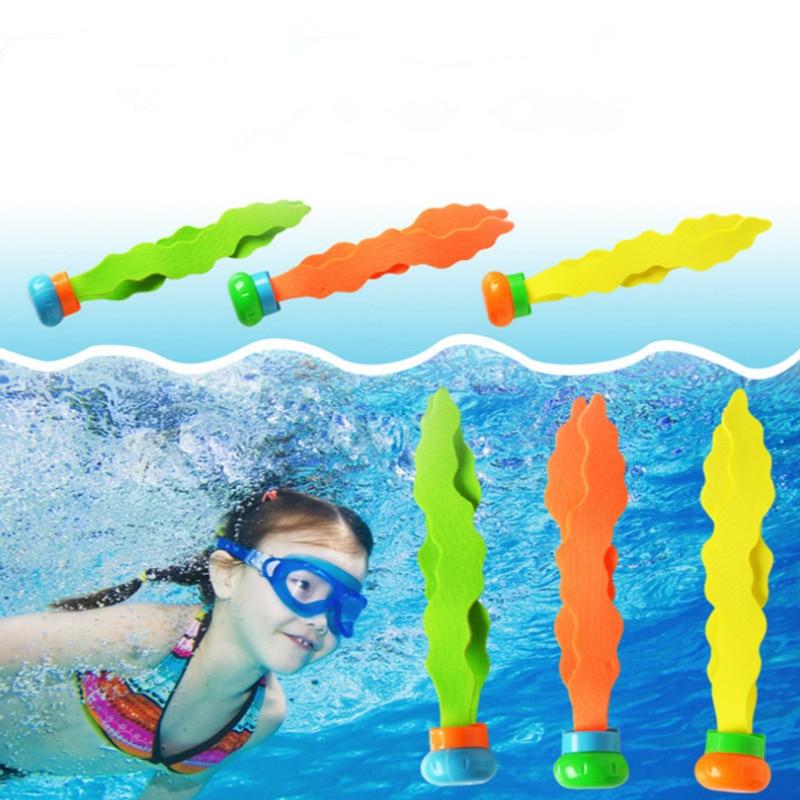Новинка, 3 шт., летние игрушки, водоросли, игрушки для дайвинга, водный бассейн, игры для детей, подводный спорт, для дайвинга, подарки для роди...